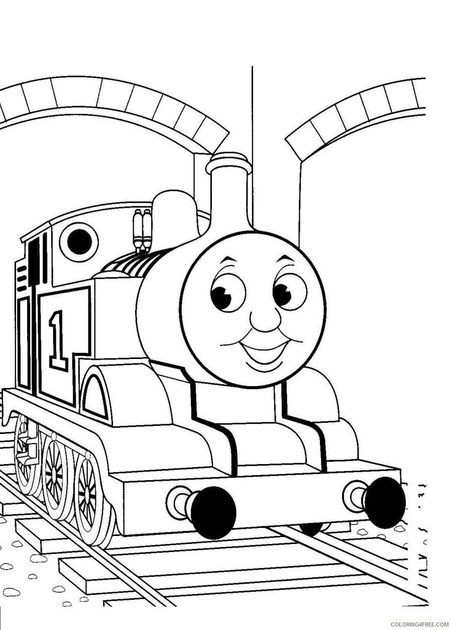 thomas and friends coloring pages in the station Coloring4free