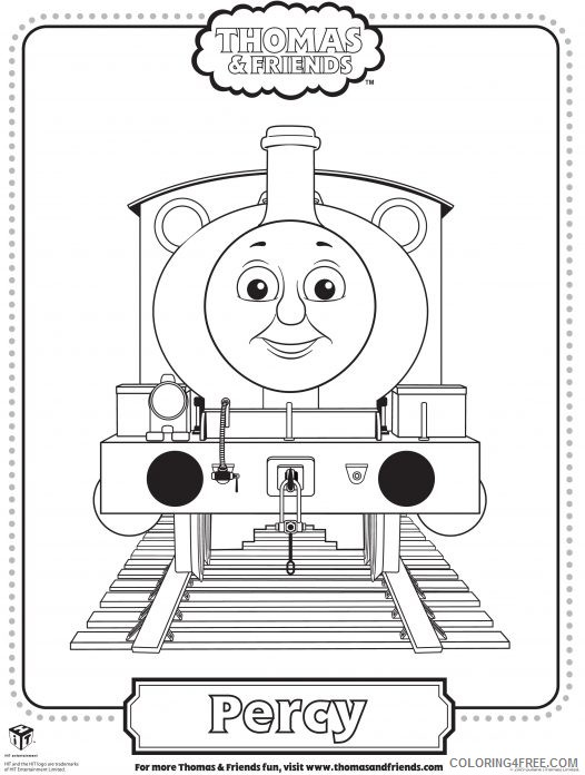 thomas and friends coloring pages percy Coloring4free