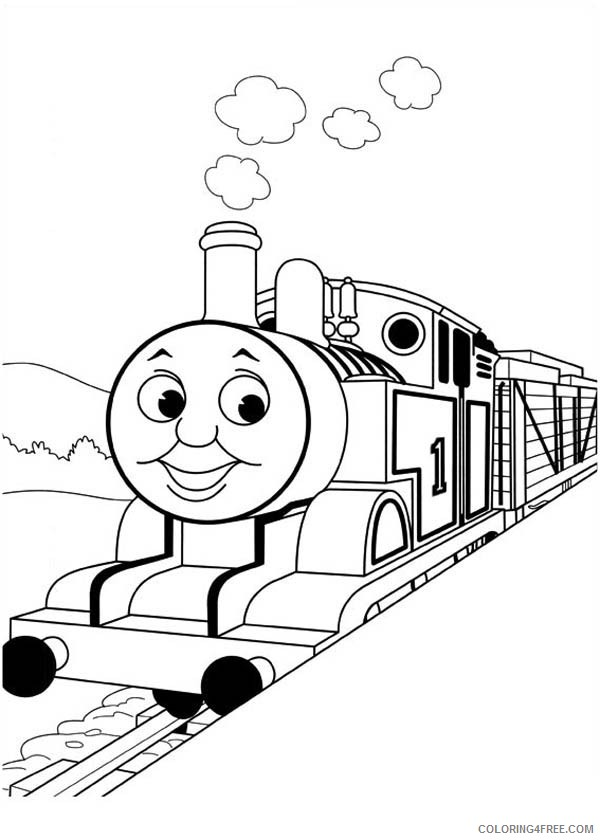 thomas and friends coloring pages smiling Coloring4free