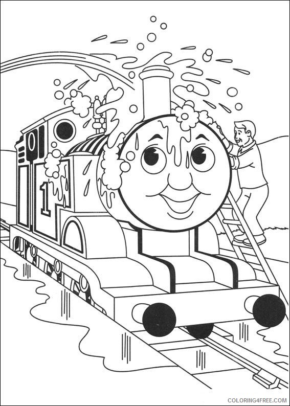thomas and friends coloring pages thomas washed Coloring4free