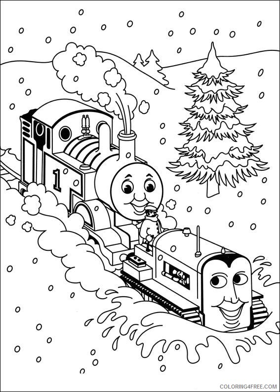 thomas and friends coloring pages through snow Coloring4free