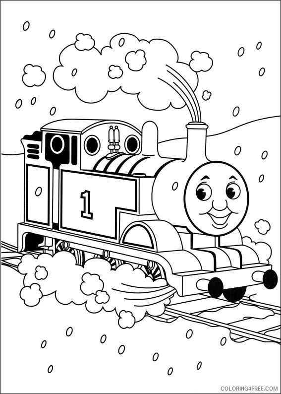 thomas and friends coloring pages through winter Coloring4free