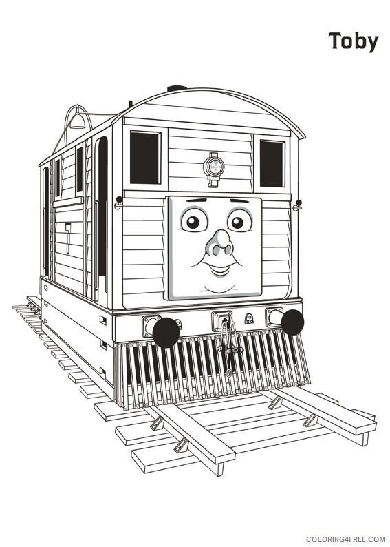 thomas and friends coloring pages toby Coloring4free