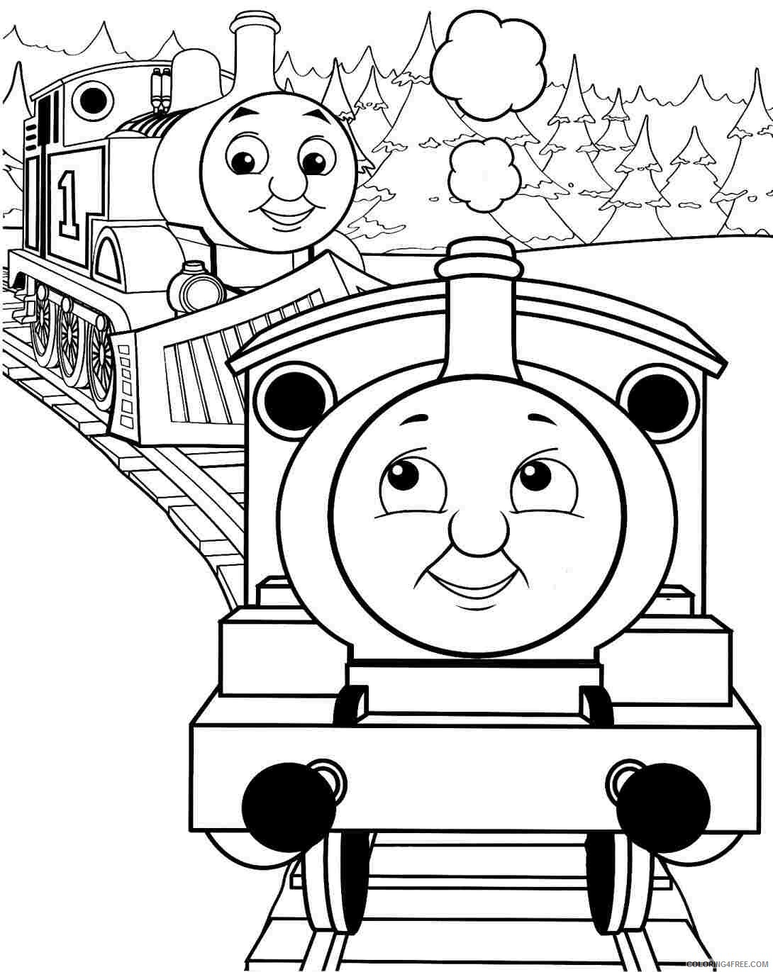 thomas and friends coloring pages with percy Coloring4free