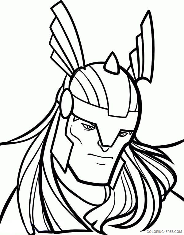 thor face coloring pages Coloring4free