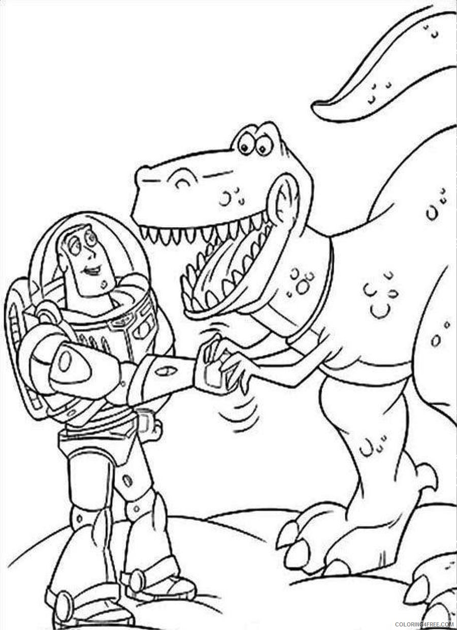toy story coloring pages buzz and rex Coloring18free ...