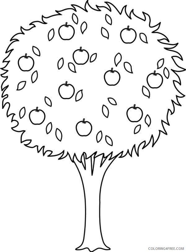tree coloring pages with apples Coloring4free