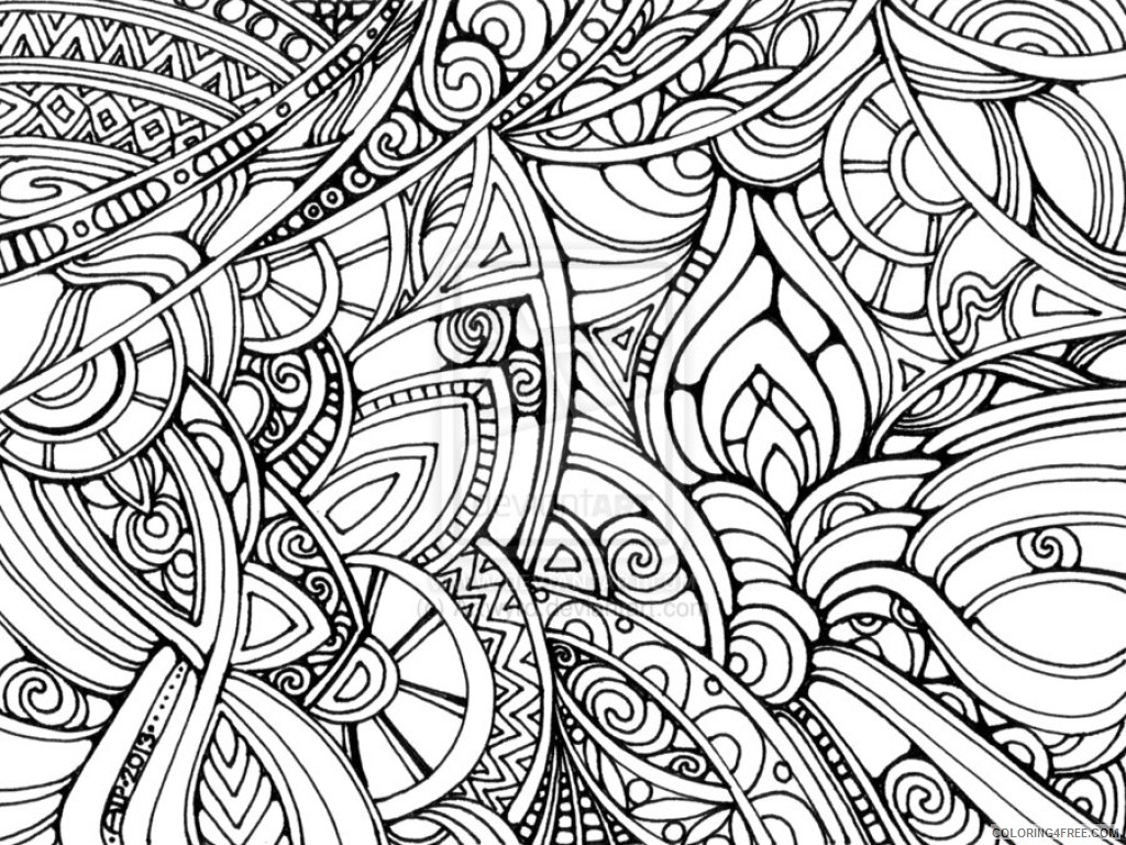 trippy coloring pages abstract Coloring4free