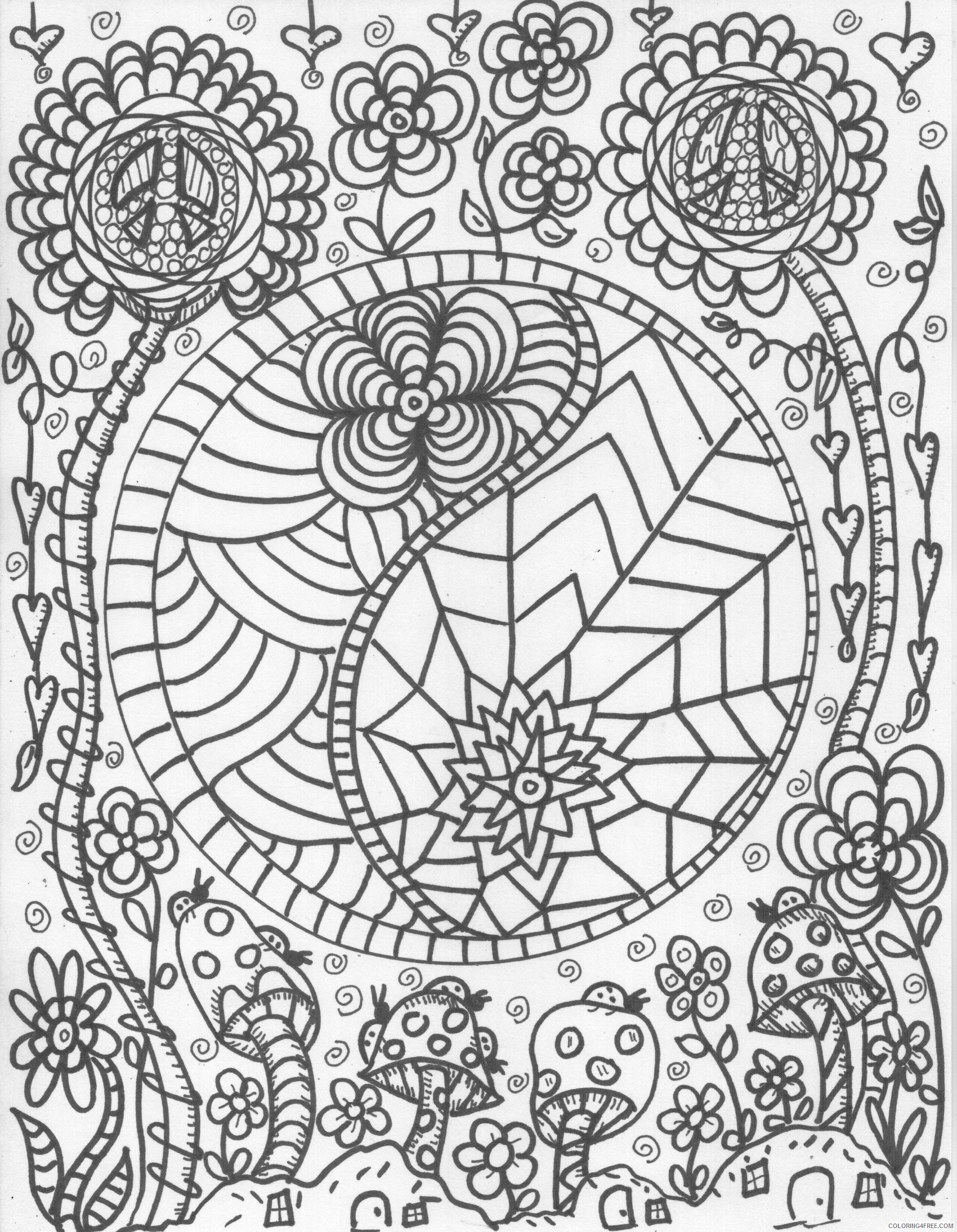 trippy coloring pages free printable Coloring4free