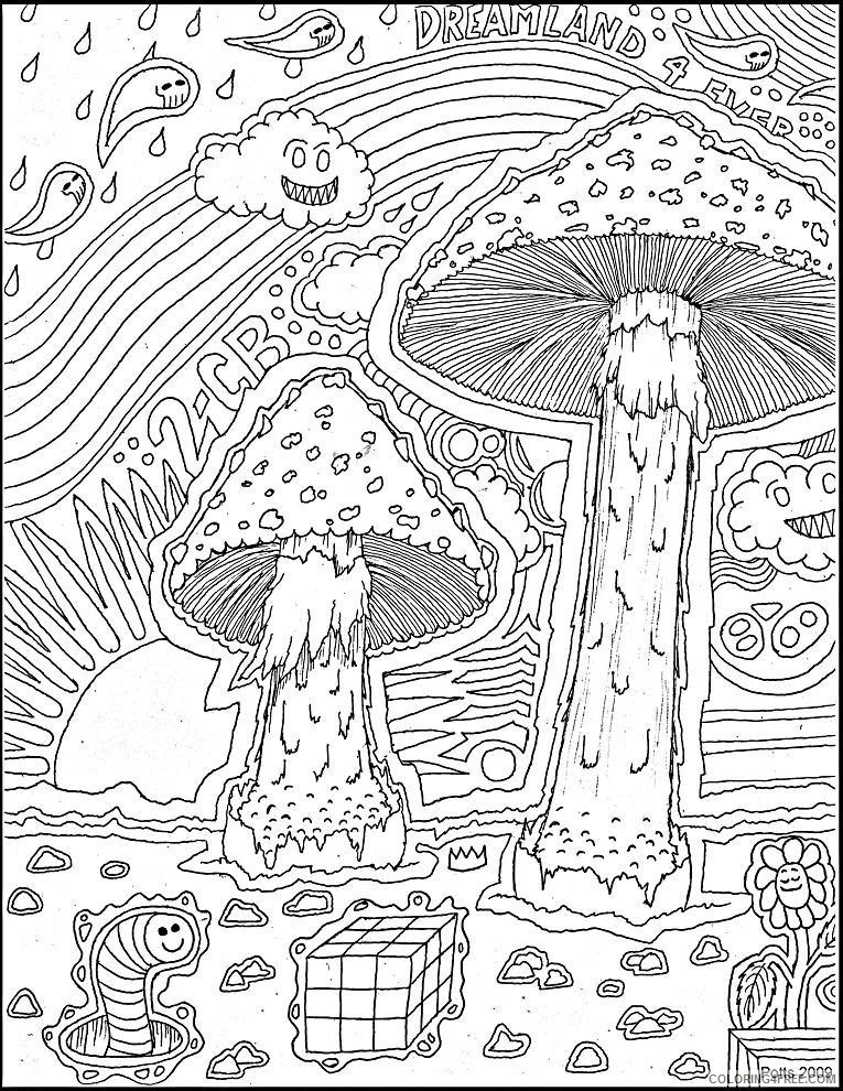 trippy coloring pages free to print Coloring4free