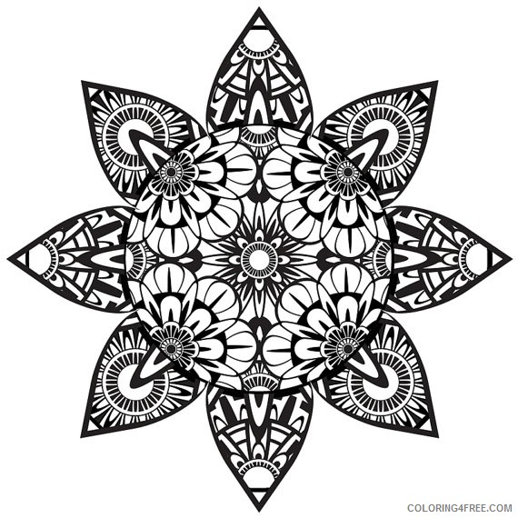 trippy coloring pages mandala Coloring4free