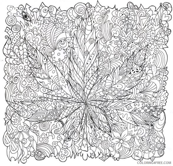 trippy coloring pages marijuana for adults Coloring4free