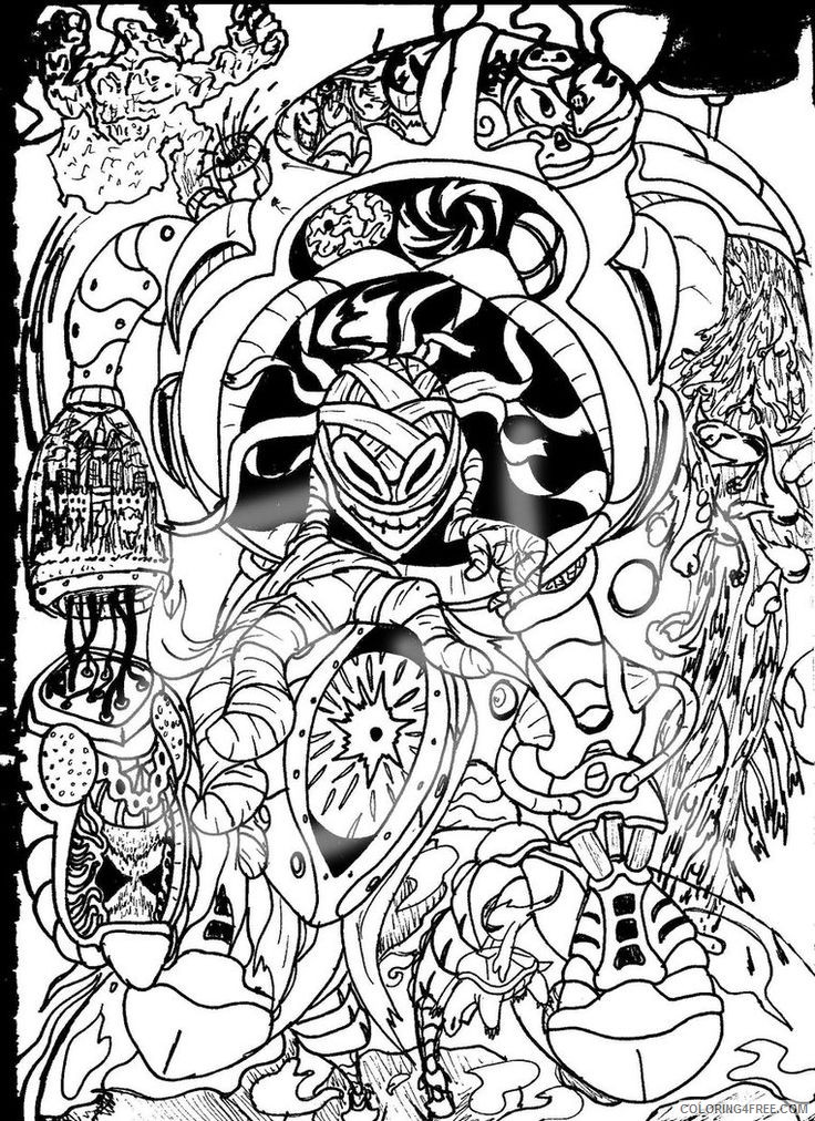 trippy coloring pages to print Coloring4free