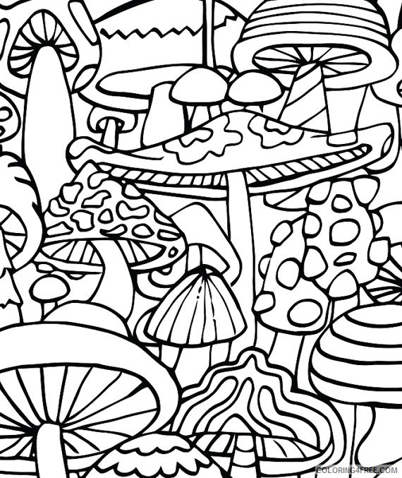 trippy mushrooms coloring pages Coloring4free