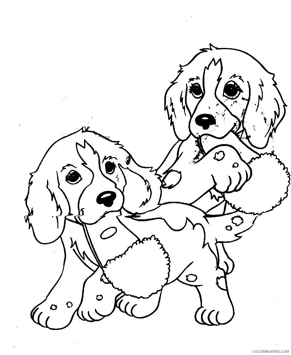 twin puppies coloring pages Coloring4free