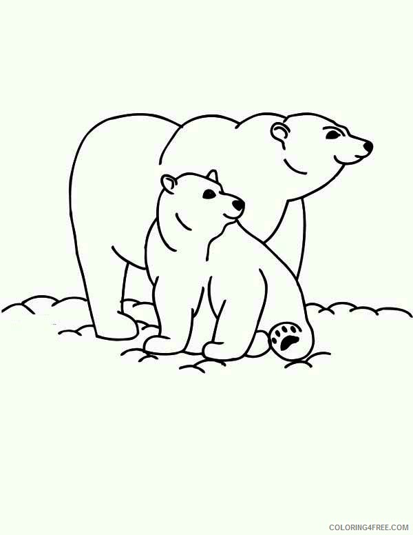 two polar bear coloring pages Coloring4free