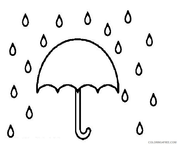 umbrella coloring pages in rain Coloring4free