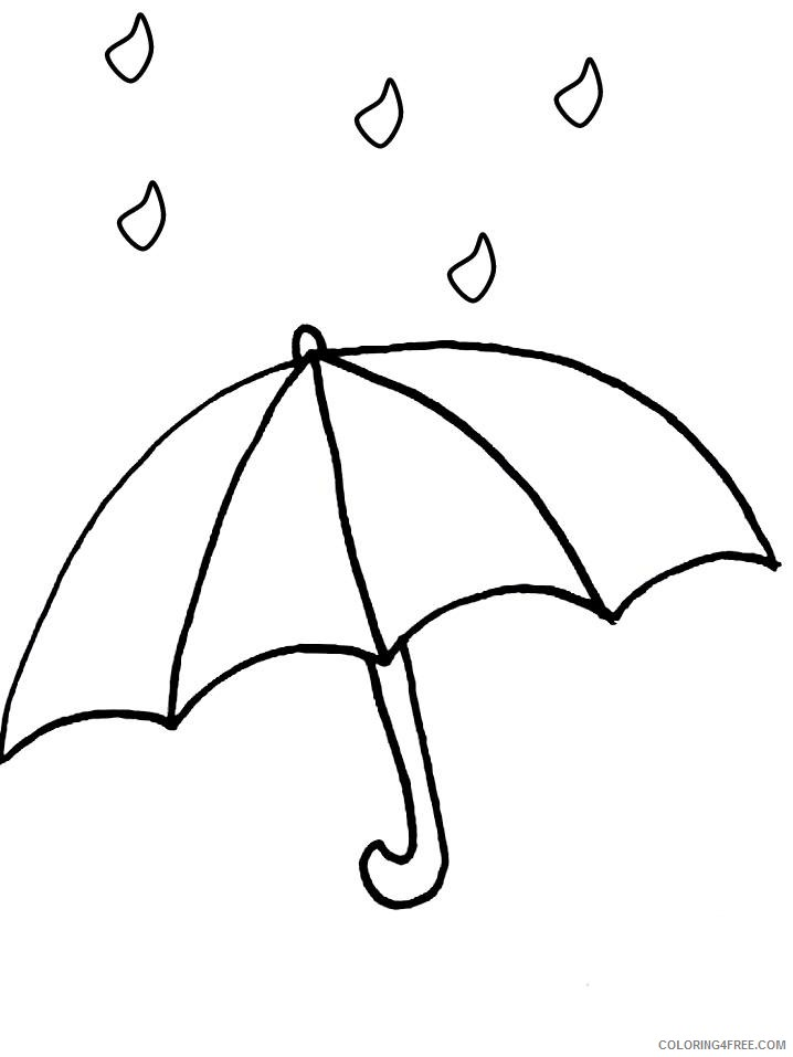 umbrella coloring pages rain Coloring4free