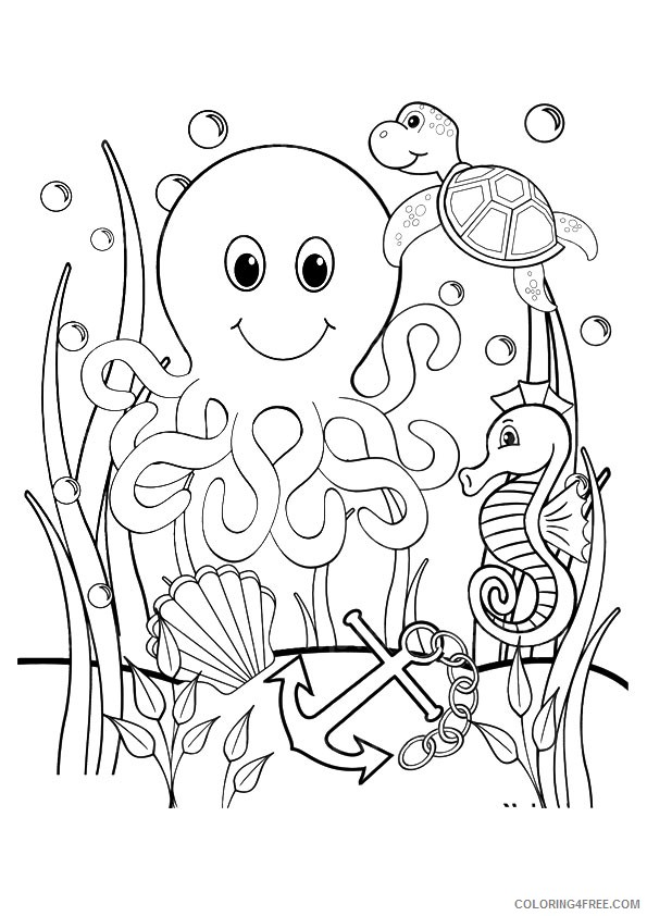 under the sea coloring pages to print Coloring4free