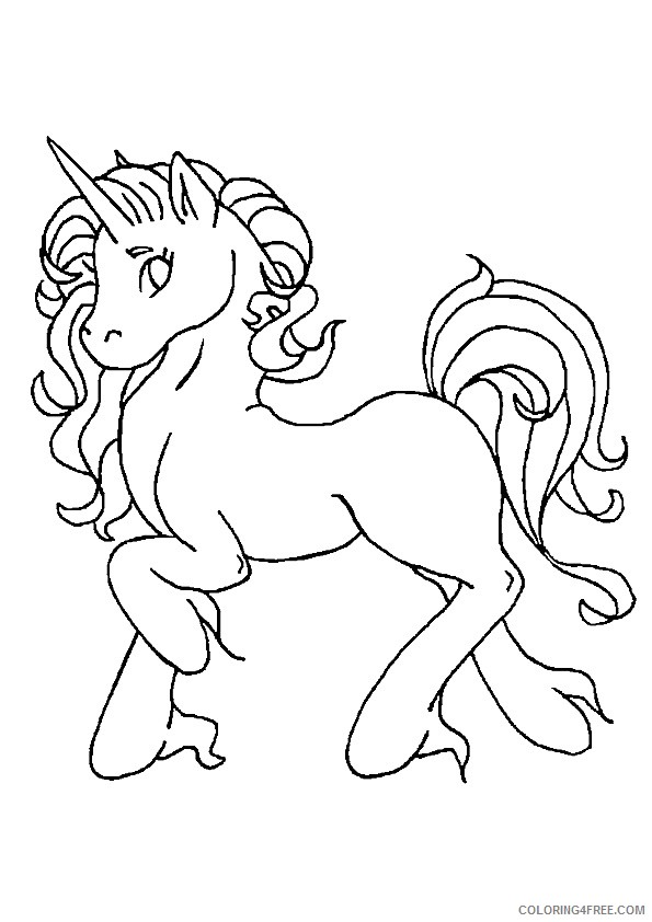 unicorn coloring pages for girls Coloring4free