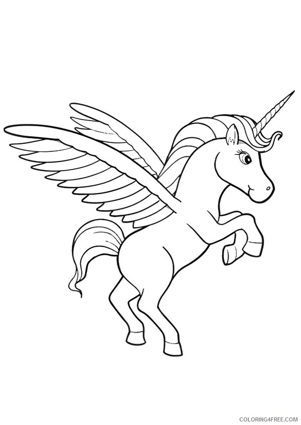 unicorn coloring pages for kids Coloring4free