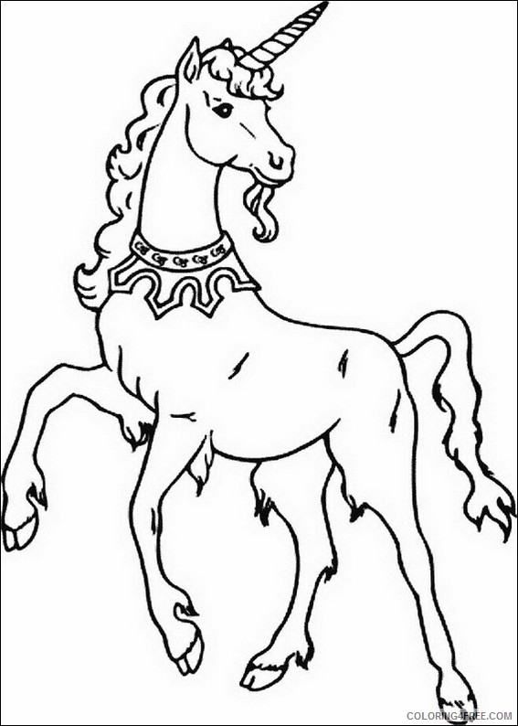 unicorn coloring pages free printable Coloring4free
