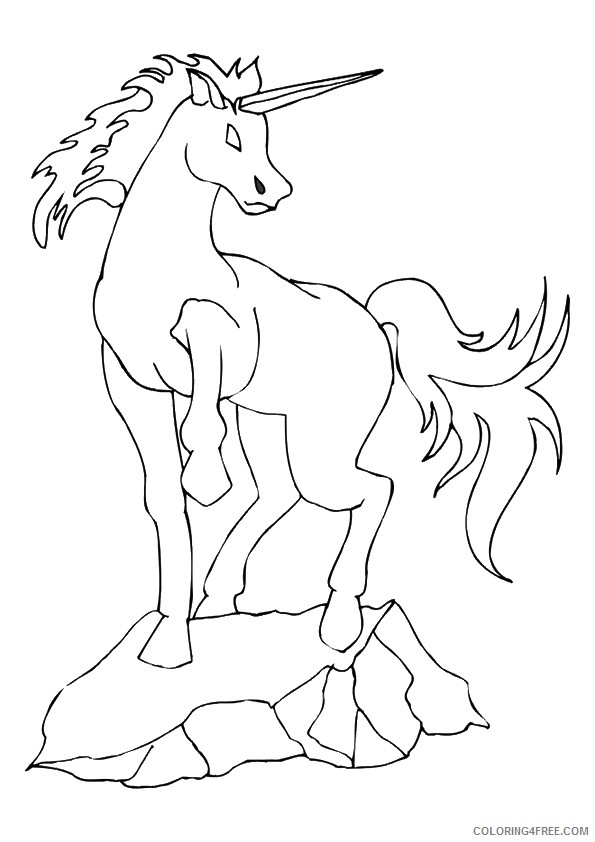 unicorn coloring pages on rocks Coloring4free