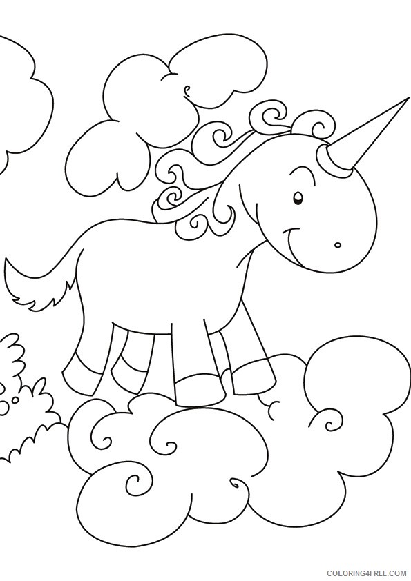 unicorn coloring pages over clouds Coloring4free
