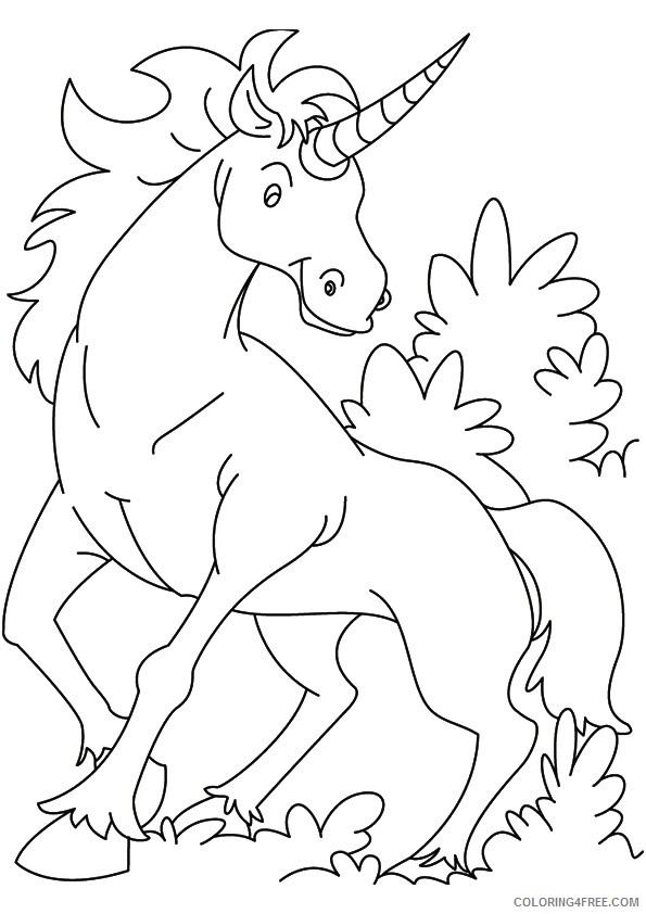 unicorn coloring pages printable Coloring4free