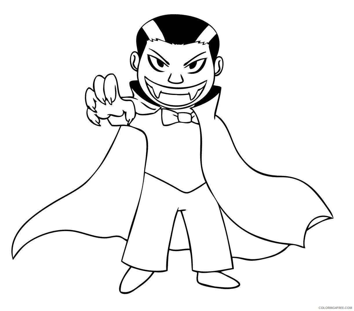vampire coloring pages for boys Coloring4free