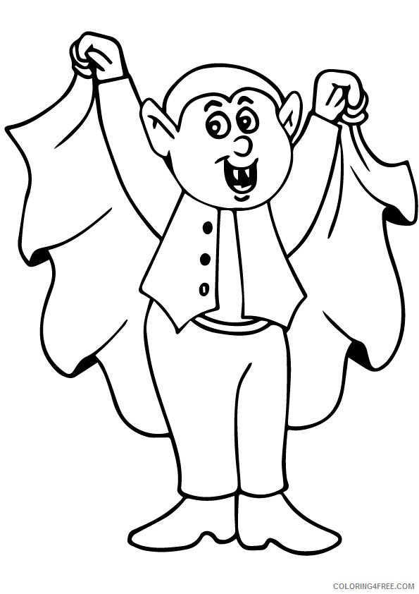 vampire coloring pages for kids Coloring4free