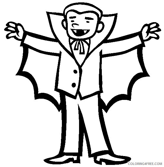 vampire coloring pages for preschooler Coloring4free