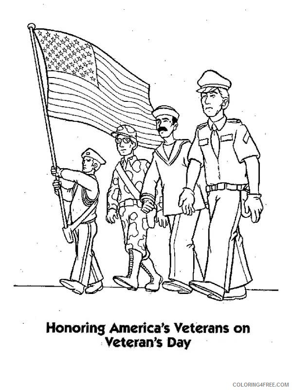 veterans day coloring pages honoring veterans Coloring4free