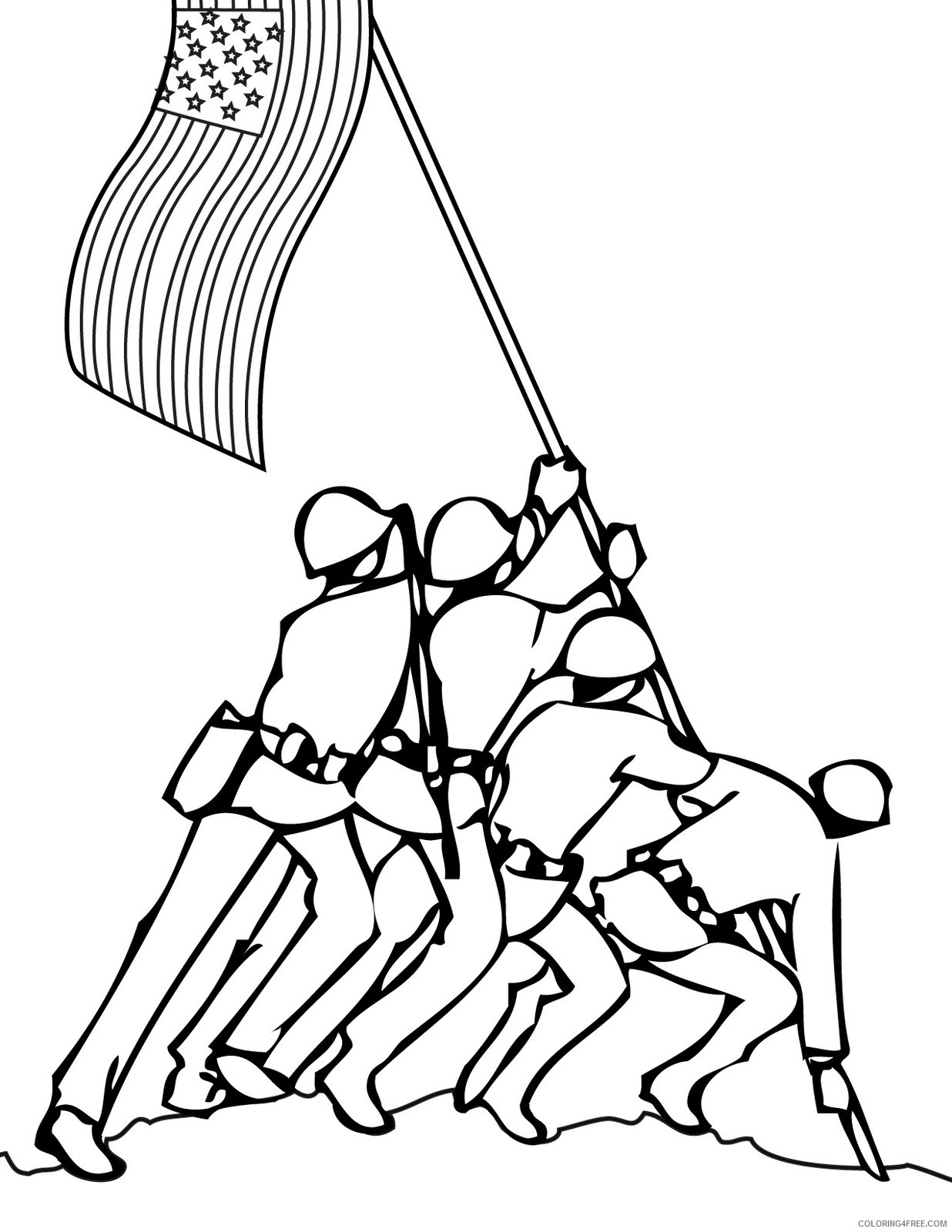 veterans day coloring pages iwo jima memorial Coloring4free
