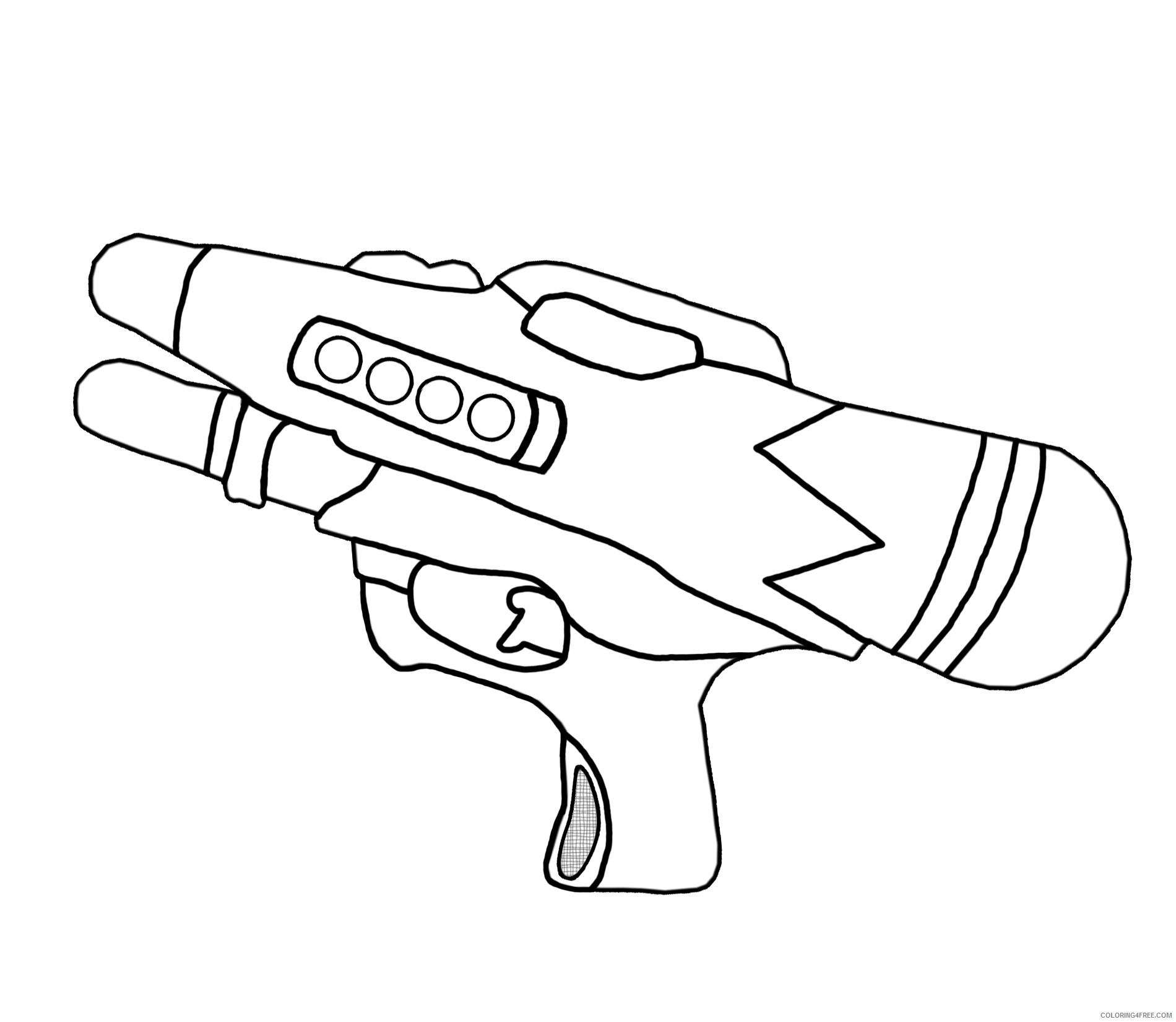 water gun coloring pages for kids Coloring4free
