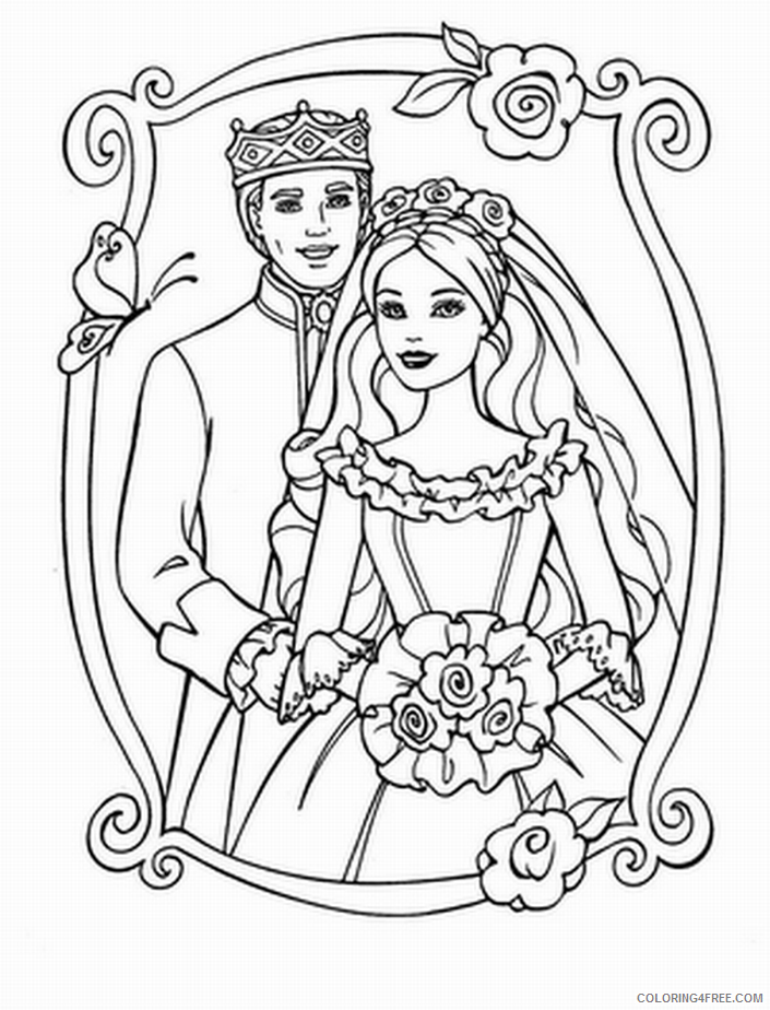 wedding coloring pages bridal Coloring4free