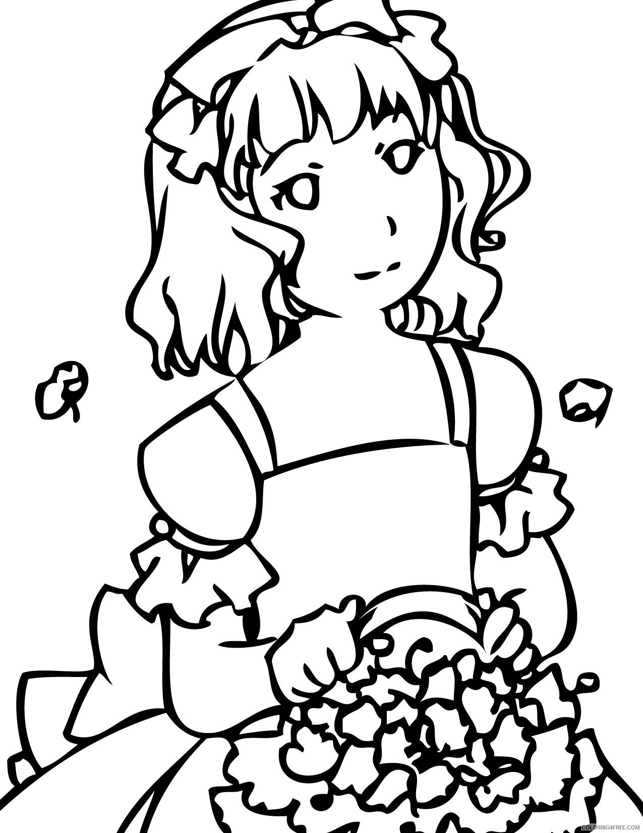 wedding coloring pages bride Coloring4free