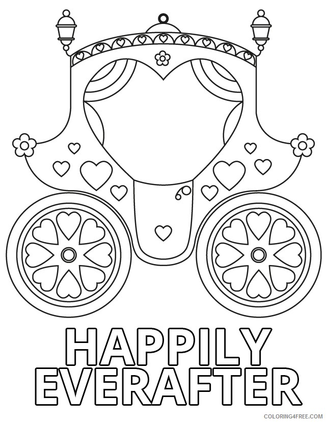 wedding coloring pages chariot Coloring4free