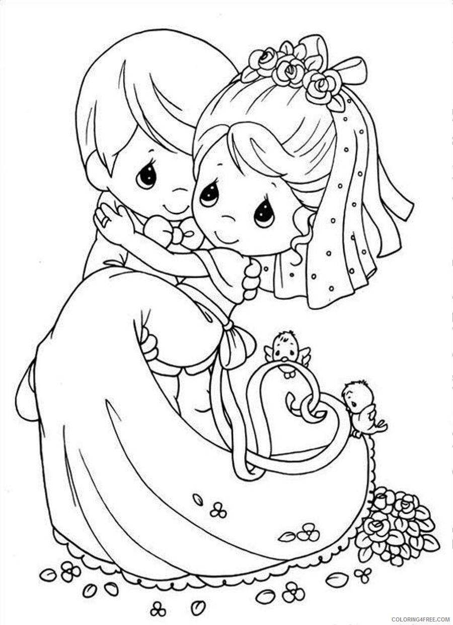 wedding coloring pages couple Coloring4free