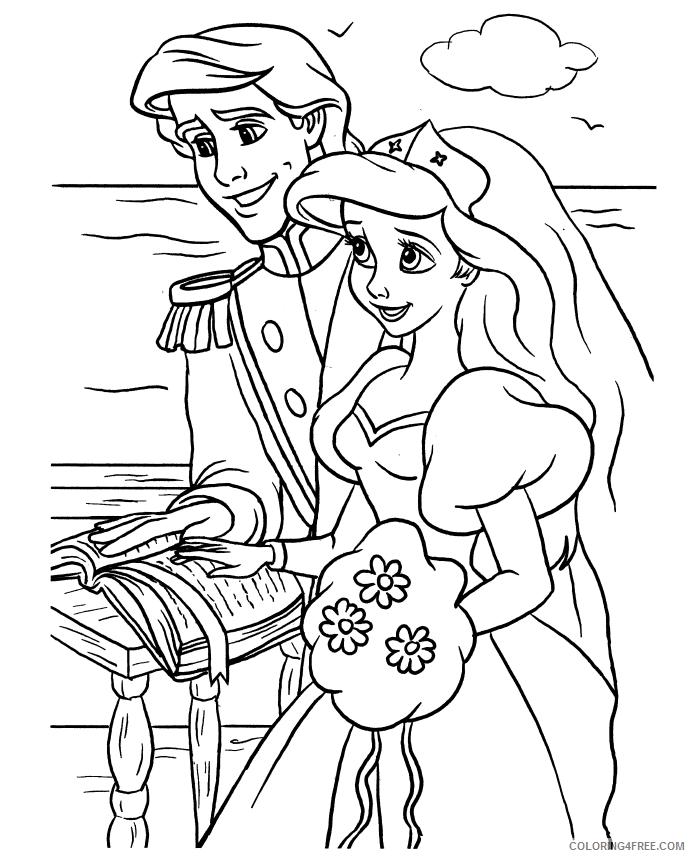 wedding coloring pages disney princess Coloring4free
