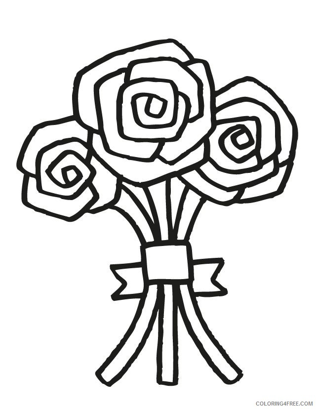 wedding coloring pages flower bouquet Coloring4free