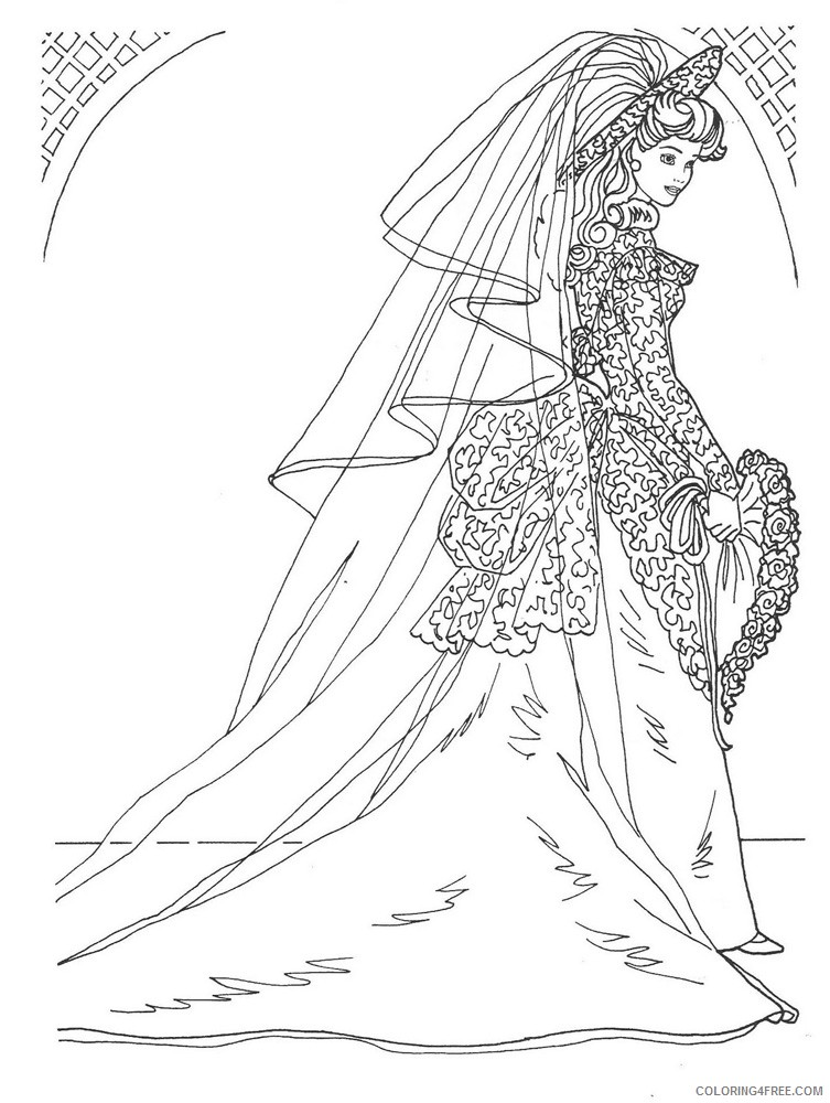 wedding coloring pages for adults Coloring4free
