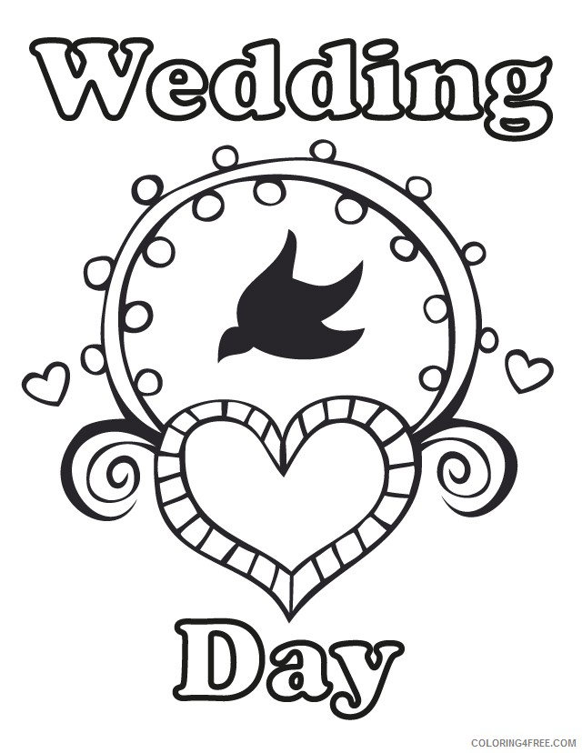 wedding coloring pages wedding day Coloring4free