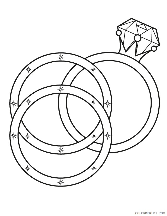 wedding coloring pages wedding ring Coloring4free