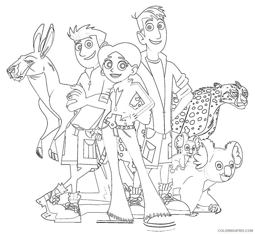 wild kratts coloring pages to print Coloring4free