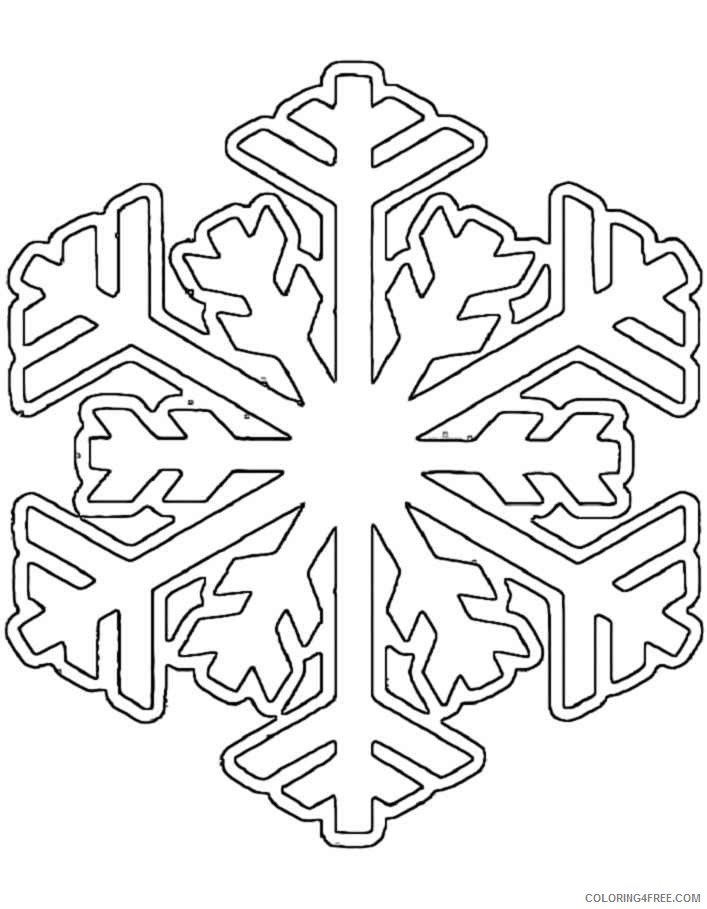 winter snowflake coloring pages Coloring4free