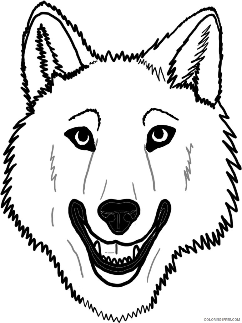 wolf face coloring pages Coloring4free