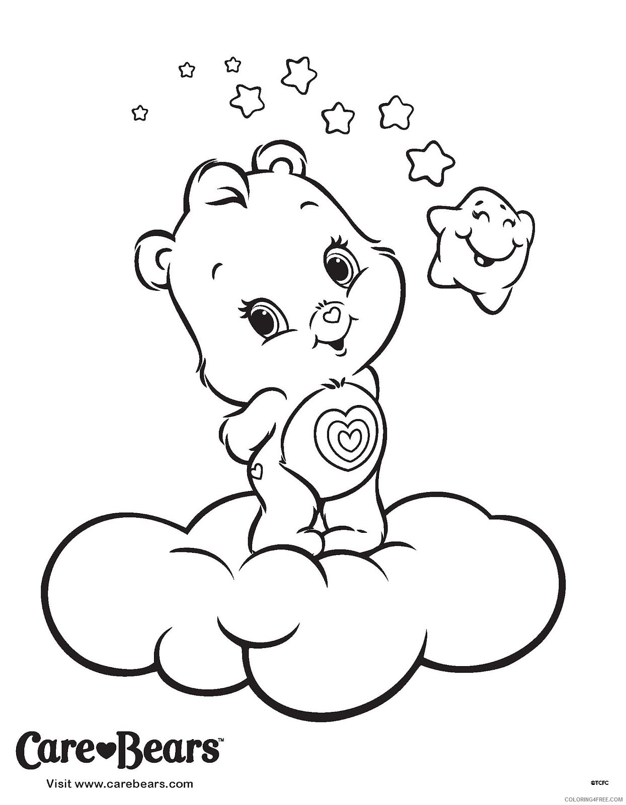 wonderheart care bears coloring pages Coloring4free