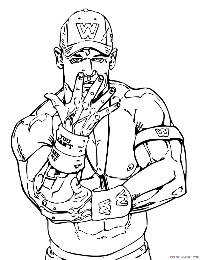 wwe coloring pages john cena style Coloring4free