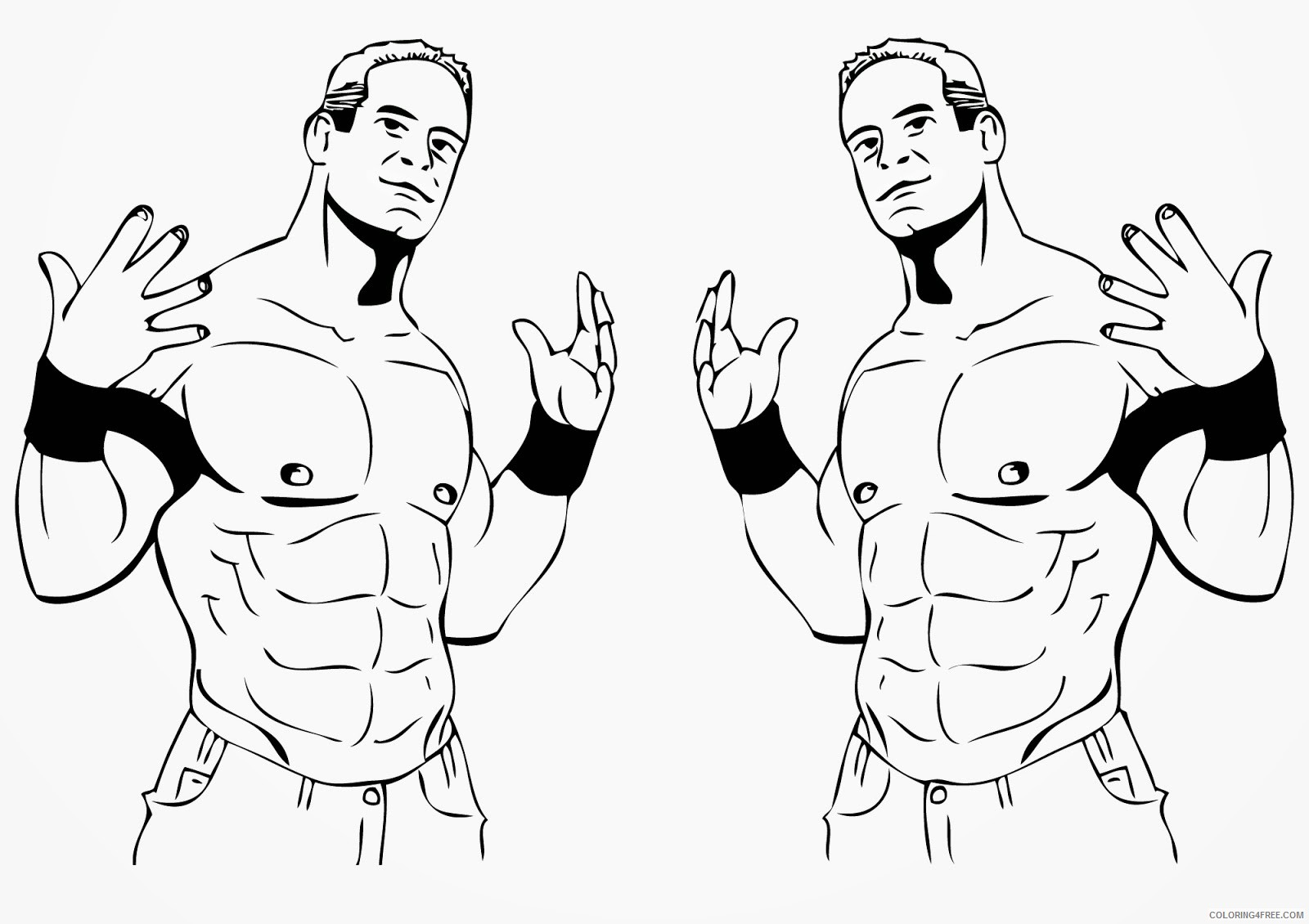 wwe coloring pages john cenas style Coloring4free